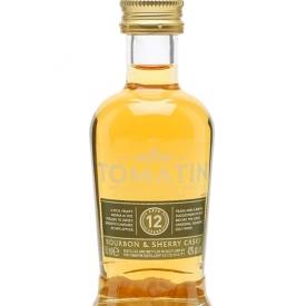 Tomatin 12 Year Old Miniature / Bourbon & Sherry Casks Highland Whisky