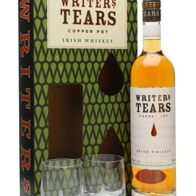 Writers Tears Copper Pot & 2 Glasses Gift Pack Blended Irish Whiskey